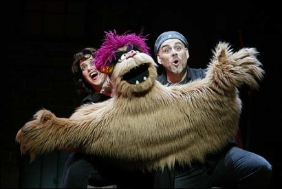 """Sharon Wheatley and David Benoit in the Las Vegas production of <i>Avenue Q</i>.""""><figcaption> <span class="""
