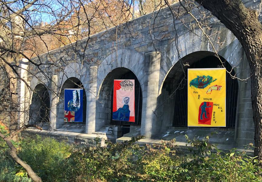 A rendering of artist Sadie Laska's Riverside Park exhibition