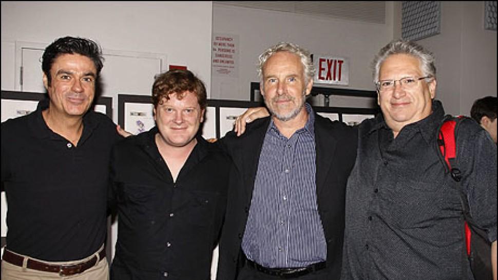Stuart Marland, Mark Aldrich, John Dossett and Harvey Fierstein