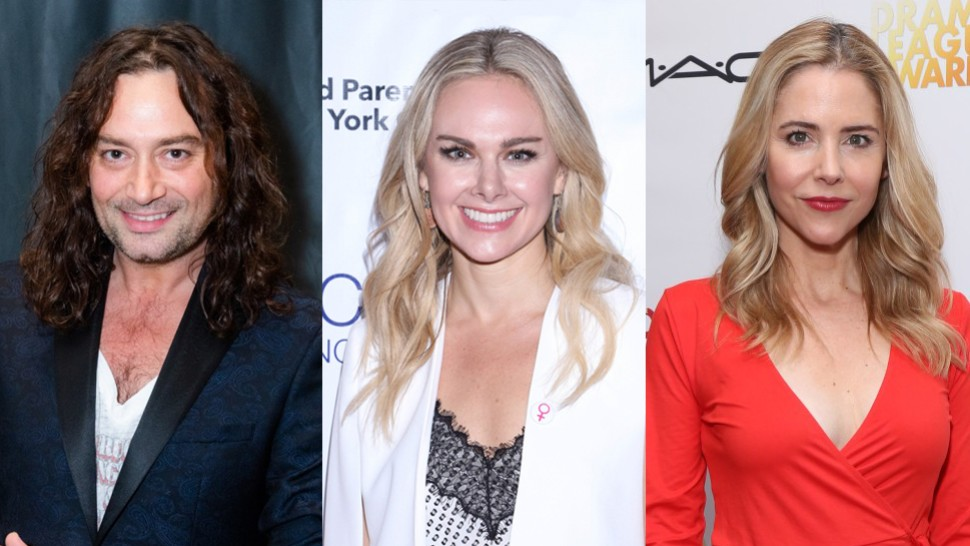 Constantine Maroulis, Laura Bell Bundy, and Kerry Butler
