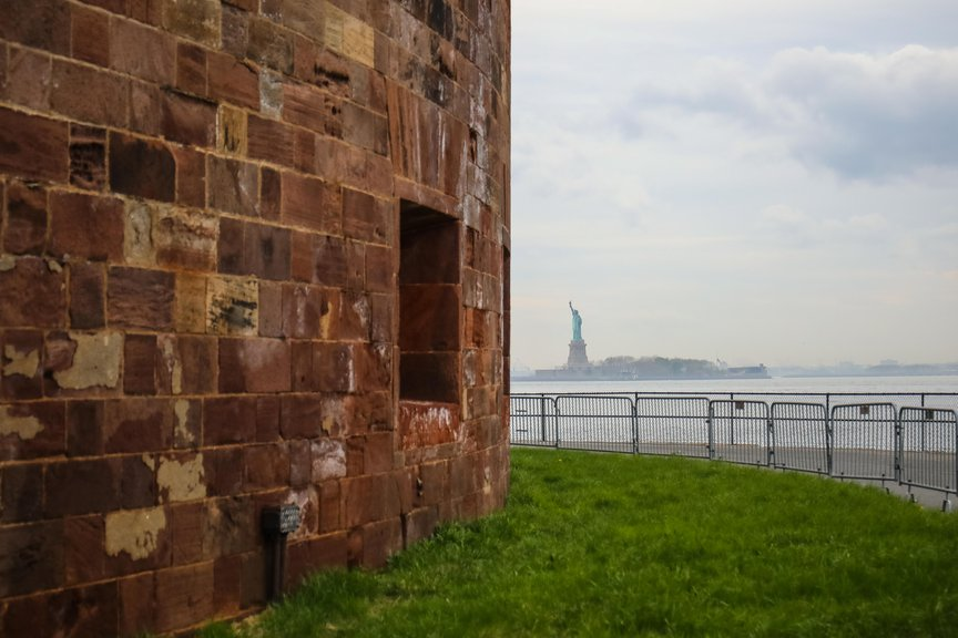 A photo of the view from Governors Island