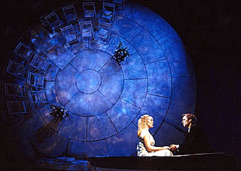 """Sherie Rene Scott and Norbert Leo Butz in <i>The Last Five Years</i> Off-Broadway""""><figcaption> <span class="""