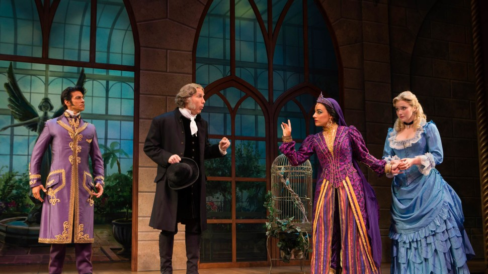 """Andy Karl, Gregg Edelman, Jessie Mueller, and Betsy Wolfe in <i>The Mystery of Edwin Drood</i> """"><figcaption> <span class="""