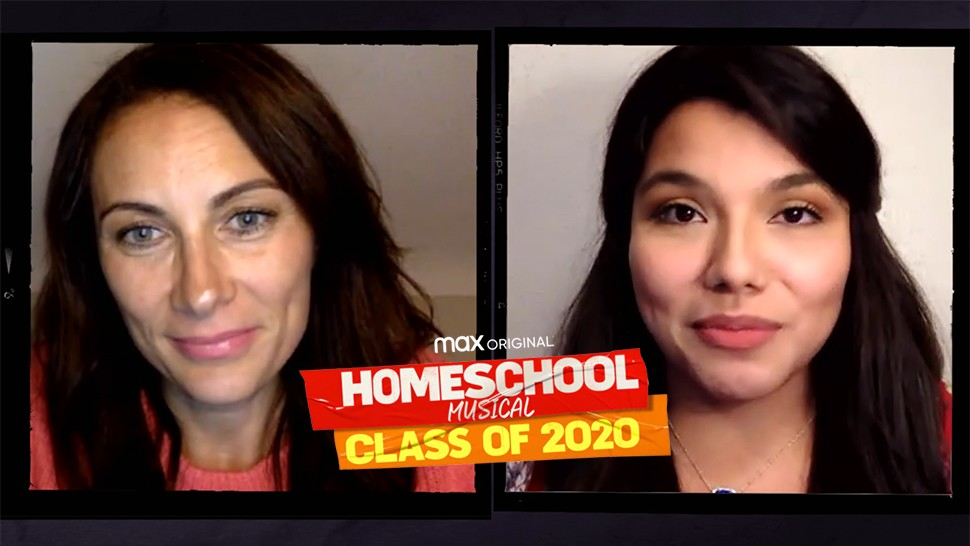 """Laura Benanti and Elizabeth in <i>Homeschool Musical: Class of 2020</i>""""><figcaption> <span class="""