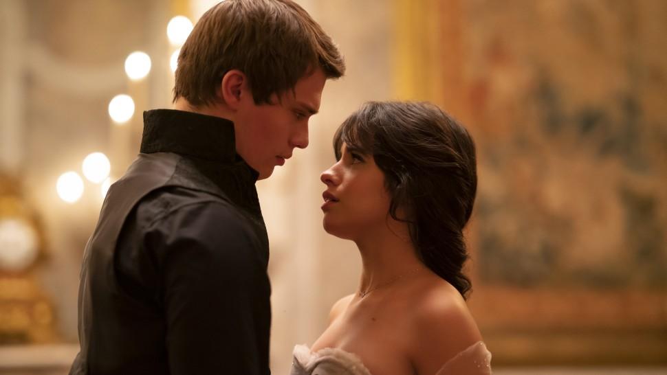 "Nicholas Galitzine and Camila Cabello in <i>Cinderella</i>""><figcaption> <span class="