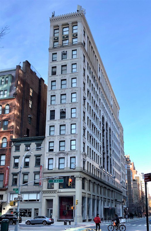 The 12-story Beaux-Arts building at 70 Fifth Avenue in Greenwich Village where the NAACP had its early headquarters.