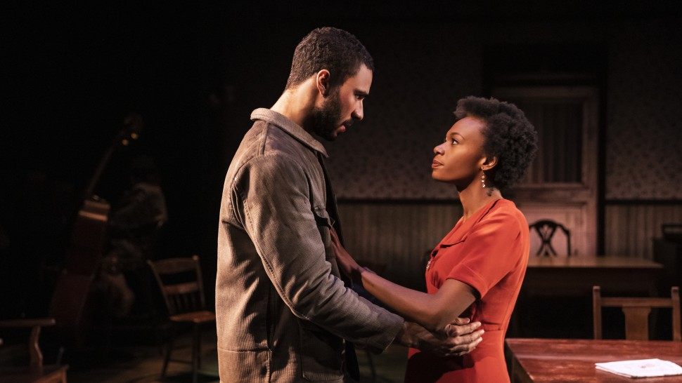"""Austin Scott and Kimber Elaybe Sprawl in <i>Girl From The North Country</i>""""><figcaption> <span class="""