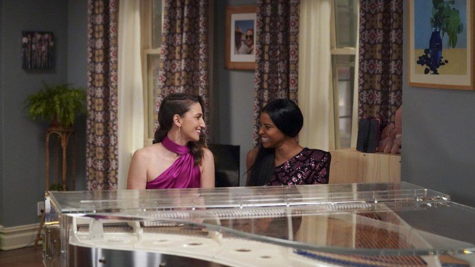 "Sara Bareilles and Renée Elise Goldsberry in <i>Girls5Eva</i>""><figcaption> <span class="