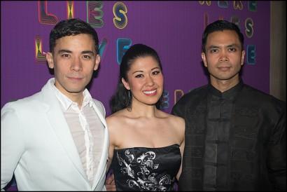 Conrad Ricamora, Ruthie Ann Miles and Jose Llana