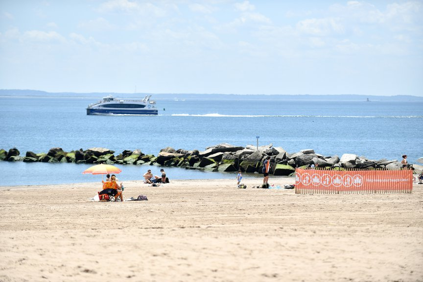 The empty beach at Coney Island