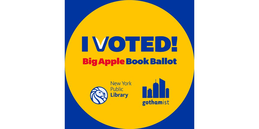 Big Apple Book Ballot I Voted sticker