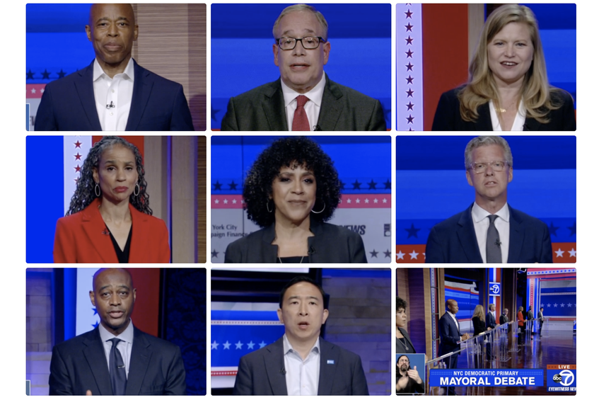 The candidates at the debate