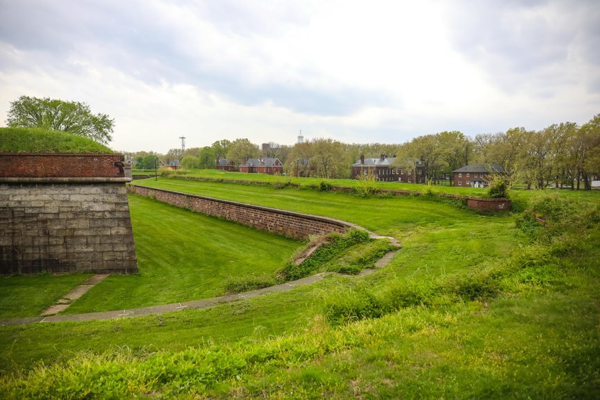 Photos from around Governors Island in April 2021