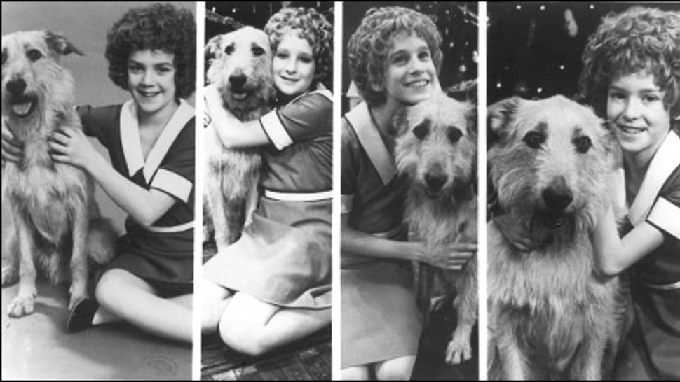 The first four Broadway Annies: Andrea McArdle, Shelley Bruce, Sarah Jessica Parker and Allison Smith